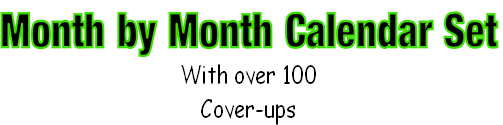Month by Month Calendar Set