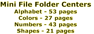 Mini File Folder Centers